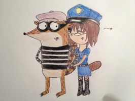 You're Under Arrest, Rigby! by IronBatMaiden91