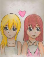 kairi and namine by Gracefullflames8