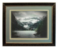 Lake Louise Alberta Triple Matted Framed Print by Joe-Lynn-Design