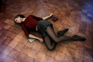 Young Amanda Jones - Collapsed in the Hallway by Torqual3D