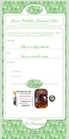 Green Bubbles Journal Skin by JessicaDobbs