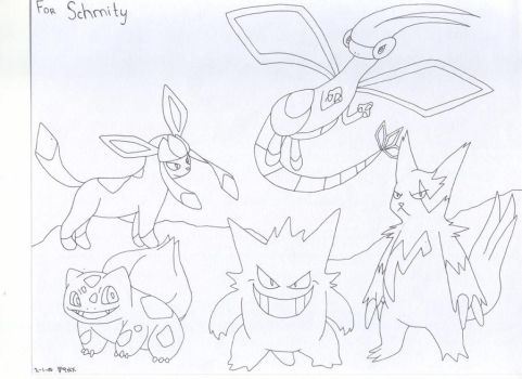 Porkhay's Party Pokemon by DeathChicken3192