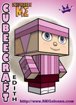 Despicable Me Edith Cubeecraft 3D by SKGaleana by SKGaleana