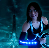 Tron Running Costume by ladycammi