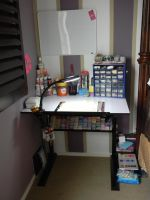 Working Station-Art Desk-Polymer Clay by ThePetiteShop