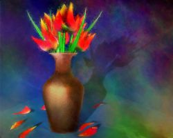Tulips for the unknown poet by rabbitica