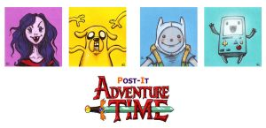 POST IT ADVENTURE TIME by QuinteroART