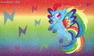 Rainbow Power Rainbow Dash by CaramelCookie