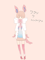 Sylveon gijinka by ietjeerawrr