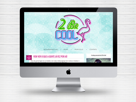 Layout do blog e portfolio Two Be Cool by Paloma182