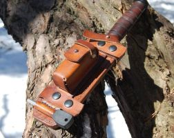 Hedgehog Sheath (5) by swietyleather