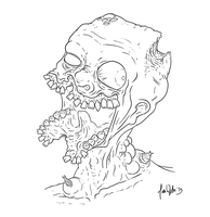 Gross Zombie Lineart by zones-productions