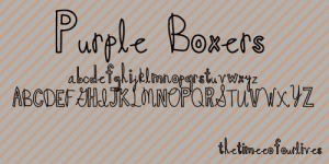 Purple Boxers font. by TheTimeeOfOurLives