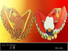 Day 23 Ho-Oh by Jacklave