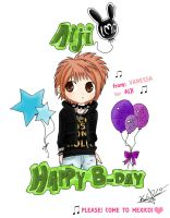 HAPPY B-DAY AIJI by naruvane-san