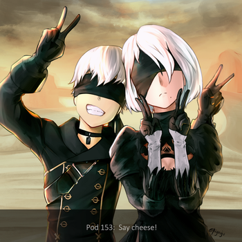 9S and 2B - Say Cheese by rjay07