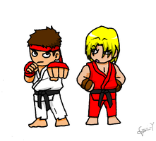ryu and ken by Gui-Y-007