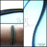 Half Persian Wrapped Bracelet by ArmoredKoi
