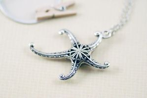 Starfish Necklace by MonsterBrandCrafts