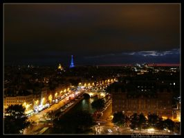 Paris at Night by BlackLightInside