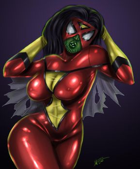 Sexy Spider Skrull by NobodyRad