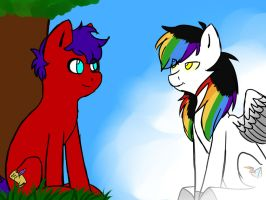 Scripture and Spectrum Bolt by Saix-WolfBlood