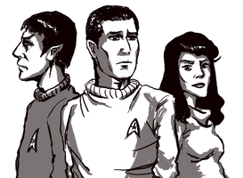 Spock, Pike, and Number One by infiniteviking