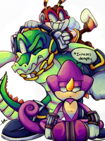 Team Chaotix Collab by CuteyTCat