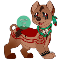 Pottery Dogs: #2, Mayan Masterpiece, CLOSED by c-Chimera