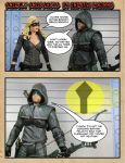 Green Arrow and Black Canary #18 spoof tribute by GhostLord89