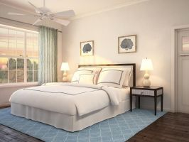 Scotch Hall Bedroom Rendering by zodevdesign