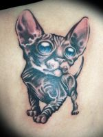 Gato by maximolutztattoo