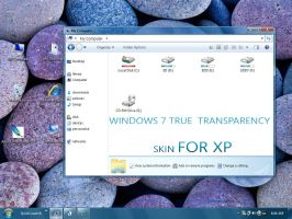 win7 true transparency skin by tinkudadra
