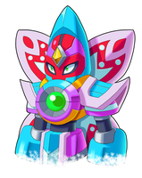MMX Corrupted- Crystal Rafflar Medium Shot by ultimatemaverickx
