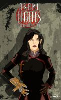 Asami Fights for Republic City by tsbranch