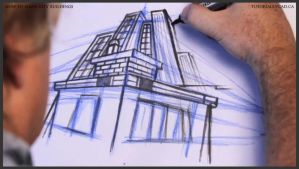 Learn how to draw city buildings 026 by drawingcourse