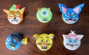 Disney cupcakes by Leenspiration