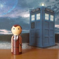 The Tenth Doctor peg doll by jen-random