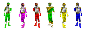 Dairanger Movie with MMPR Green for Andruril93 by rangeranime