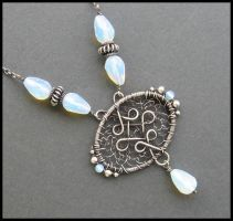 silver and opalite necklace 2 by annie-jewelry