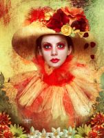 The flowers of a strange clown by Lili-Lou