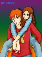 Red Fixation 9-Hermione n Ron by AliNavGo