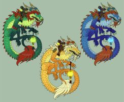 -Warcraft- Cloud Serpent Sticker Set by RizyuKaizen