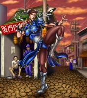 Chun Li - Street Market (China) by SoulStryder210