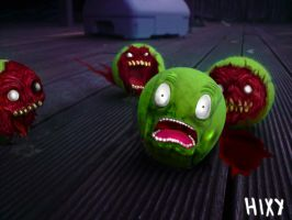 ZOMBIE TENNIS BALLS by SaM-DwHiCh