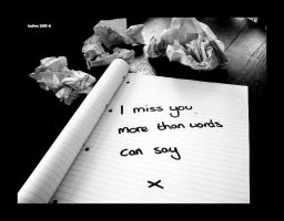 i miss you... by loufwa