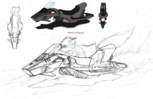 Zeon Xaliant hoverbike v2 WIP by Dashster