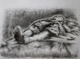 Foreshortened Figure by SweetDreamscapes