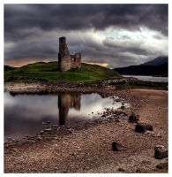 ardvreck castle again. by Project-Firefly