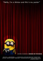 Minion on the Moon Poster by Alecx8